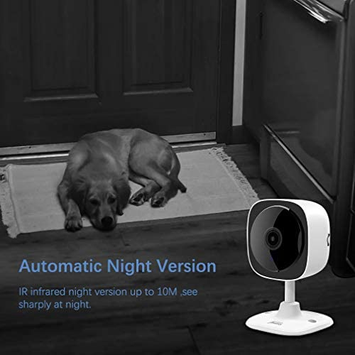WiFi Camera 1080P Wireless Home Indoor Security Camera with 180 Panoramic View Joustory IP Camera Pet Nanny Baby Monitor with Night Vision 2 Way Audio Motion Detection and Cloud TF Card Storage