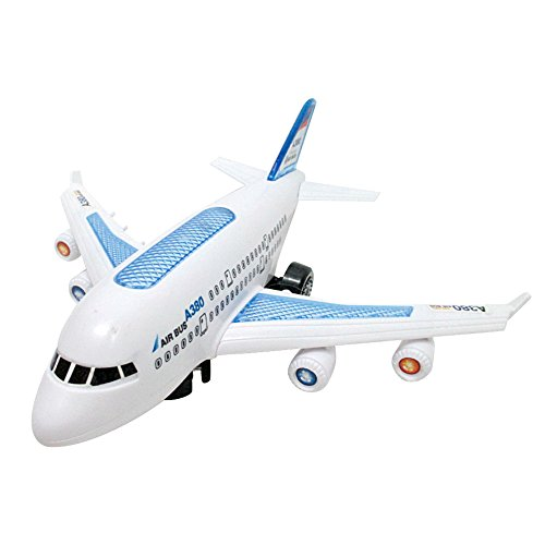 (Childplaymate Airbus Airplane Model Electric Air Bus Model Flashing LED Light Kids Musical Airplane Toy Gift)