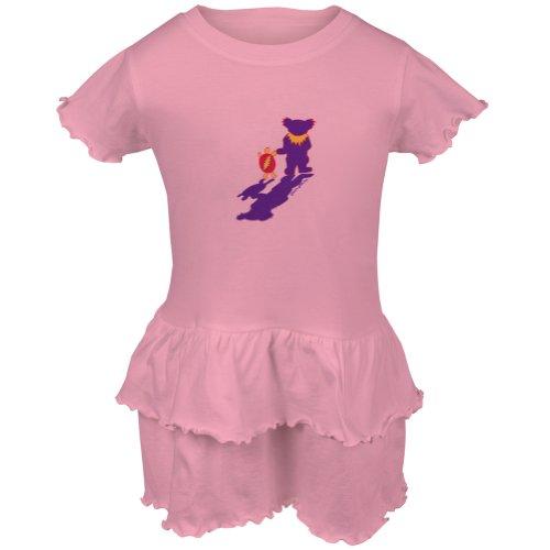 Grateful Dead - Terrapin & Bear Pink Toddler Ruffle Dress