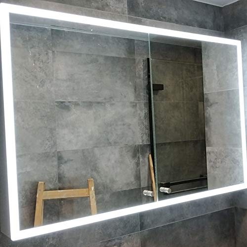 Bathroom Cabinet/Mirror Cabinet/Illuminated LED Bathroom Mirror With Built-in Bluetooth Speaker Dimming Function - Led Mirrors Bathroom Illuminated Sensor Demister