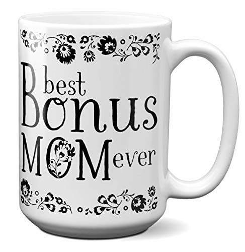 Best Bonus Mom Ever Coffee Mug Step Mother/Mother-in-Law Gift Idea Tea Cup