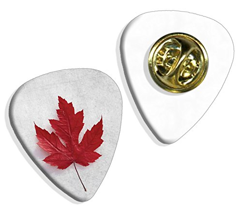 [Canada Maple Leaf Logo Guitar Pick Badge (GD)] (Canada Collectible Pin)