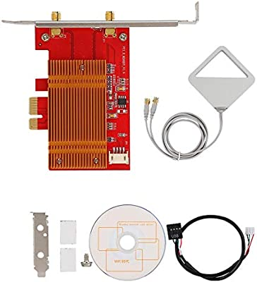 Tarjeta de Red inalámbrica PCI-E 802.11AC con Antena Larga ...