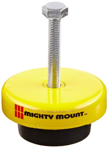 """J.W. Winco """"Mighty Mount"""" 4T175FA0 Series MM100 Steel Heavy Duty Threaded Stud Type Vibration Mount, Yellow Powder-Coated Finish, Inch Size, 1/4-28 Thread Size, 30/100lbs Load Capacity Range"""