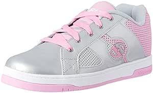 Heelys Split Shoes, Silver/Pink, Size 9