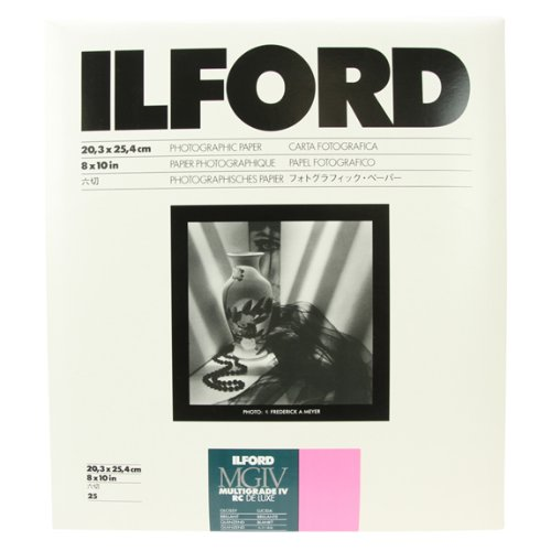 Ilford Multigrade IV RC Deluxe Resin Coated, 8x10, Glossy, VC Paper, 25 Pack (1770306)