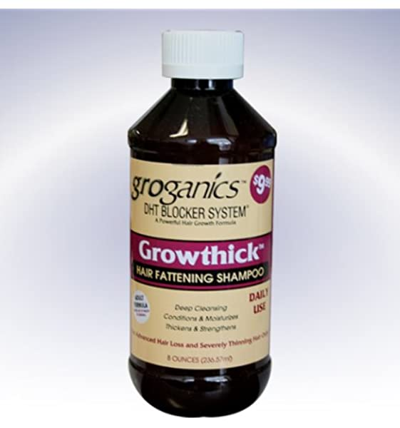 groganics DHT growthick pelo engorde Champú 236.57 ml: Amazon.es: Belleza