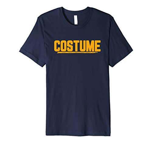 Mens Halloween T-Shirt That Says Costume Easiest Last Min Tee Large Navy