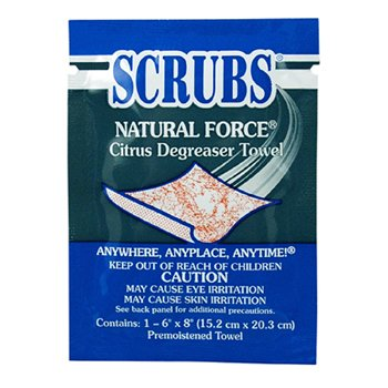 Natural Force Degreaser Towel - Wipe Packet, 100/cs, 90601 per CASE ()
