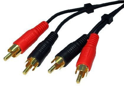 World of Data® AudioPro TWIN RCA (PHONO) Cable 20m - 24k Gold Plated - Male to Male - Left & Right Audio - Stereo Sound World of Data®