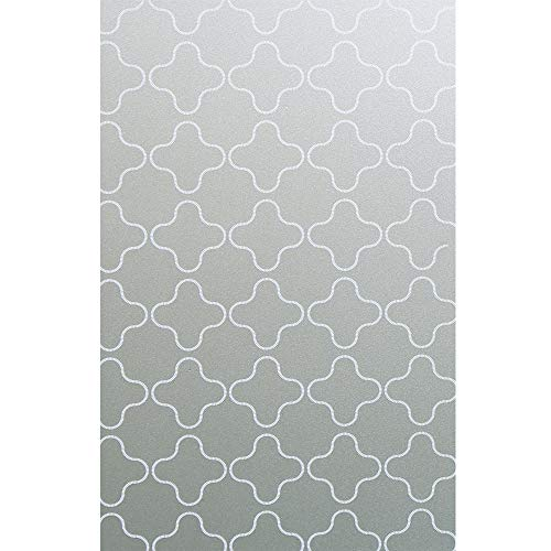 Bloss Privacy Window Film Non-Adhesive Decorative Etched Glass Window Film for Bathroom 17.7 x 78.7 Inch by Bloss