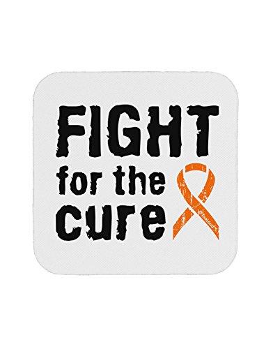 TooLoud Fight for the Cure - Orange Ribbon Leukemia Coaster (Ribbon Orange Cure)