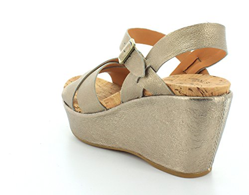 Womens 0 Gold Ava Soft Kork Wedge 2 Ease 675ZqF