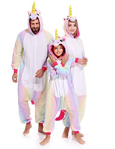 Unicorn Onesies Adult Pajamas Kigurumi Unisex Halloween Xmas
