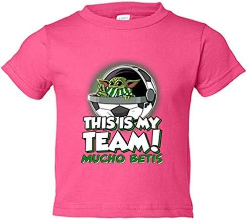 Camiseta niño parodia baby Yoda mi equipo de fútbol Mucho Betis - Rosa, 18-24 meses: Amazon.es: Bebé