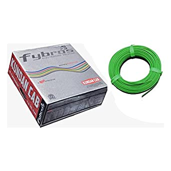Kundan Fybros PVC Cable 1Sq.mm 90mtr Coil (Green)