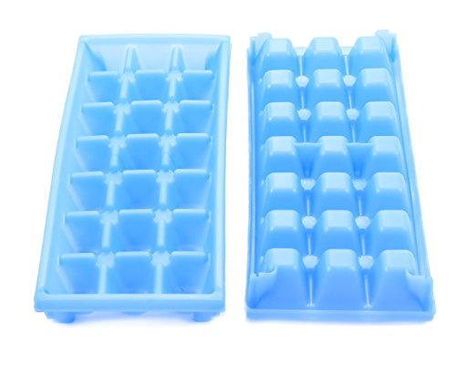 Camco Blue Stackable Miniature Ice Cube Tray for Mini Fridges, RV/Marine, Dorm Small Freezers, (2 Pack) (44100)
