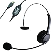 Earbay MHP-380 Professional Headset with Special USB Controller for High-traffic Call Centers