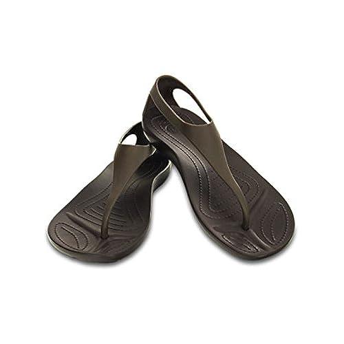Mujer Sintético De Vestir Material Sandalias Para Crocs wPTOlkXZiu