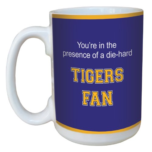 Tree-Free Greetings lm44478 Tigers College Football Fan Ceramic Mug with Full-Sized Handle, 15-Ounce