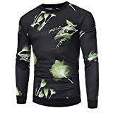 VEZAD Men Shirts Graphic Tees Fashion Spring Patchwork Long Sleeve Printed Tops