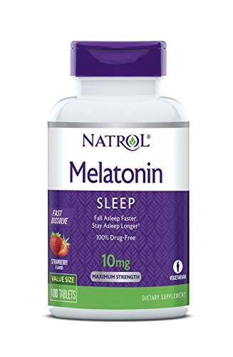 Natrol Melatonin Fast Dissolve Tablets, Helps You Fall Asleep...