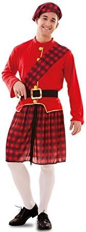 Disfraz de Escocés rojo y negro para hombre: Amazon.es: Juguetes y ...