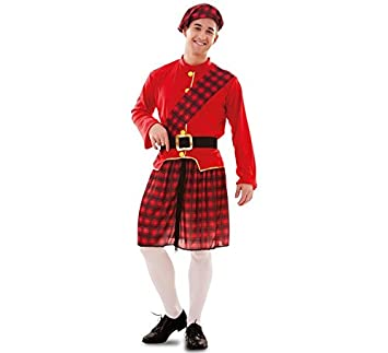 Disfraz de Escocés rojo y negro para hombre: Amazon.es ...