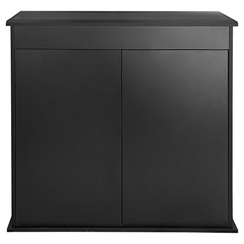 Innovative Marine Innovative Marine Nuvo Fusion 30L Micro 30 Gallon Long Aquarium Stand, Black, High Density Fiberboard by Hidden Reef Inc