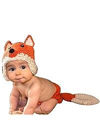 Baigeda Newborn Baby Boy Girl Clothes Handmade Warm Soft Cashmere Crochet Knit Outfit Set Unisex Baby Cute Infant Costume Keepsakes