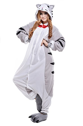 NEWCOSPLAYAdult Anime Unisex Pyjamas Halloween Onesie Costume (S, Cheese Cat)