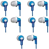 5 (FIVE) Panasonic ErgoFit Noise Isolating Earbud Headphones (Blue)