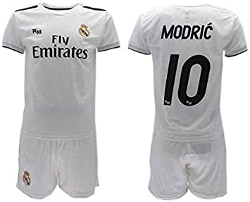 Conjunto Fútbol Luka Modric 10 Real MADRIC C.F. Blancos ...