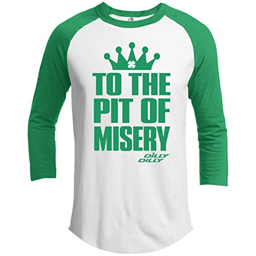 21 THREADS ST.Patrick's Day Raglan Pit Of Misery Holiday 3/4 Sleeve T-Shirt