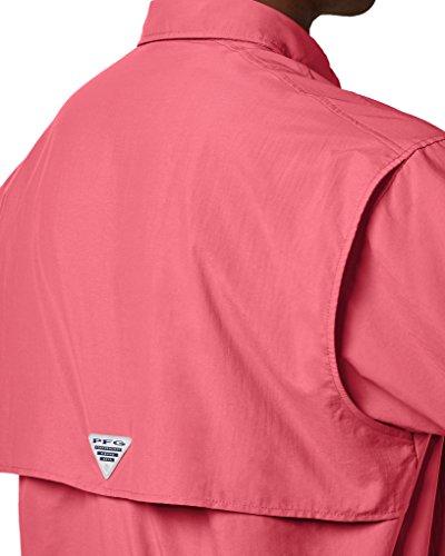 430ca988493 ... Small Columbia Men's PFG Bahama II Short Sleeve Shirt, Sunset Red, ...