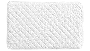 Little One's Pad Pack N Play Crib Mattress Cover - Fits ALL Baby Portable Cribs, Mini & Foldable Mattresses - Waterproof, Dryer Safe & Hypoallergenic - Comfy & Soft Fitted Crib Protector