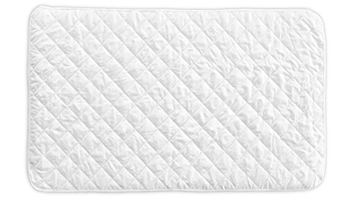 Little One's Pad Pack N Play Crib Mattress Cover - Fits ALL Baby Portable Cribs, Play Yards and Foldable Mattresses - Waterproof, Dryer Safe and Hypoallergenic - Comfy and Soft Fitted Crib Protector - Waterproof Quilted Crib Mattress Pad