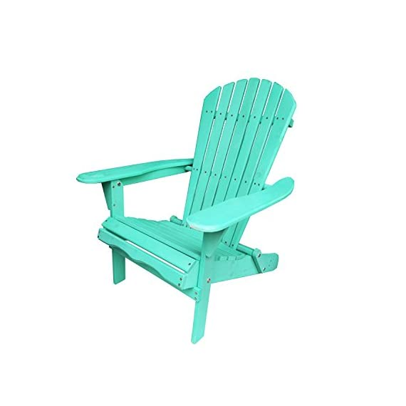 Carbelle Villaret Adirondack Chair (Green) - Solid Fir Wood All Weather Chair Repels Water and Moisture Natural finish adds a classic outdoor style to your patio or backyard setting - patio-furniture, patio-chairs, patio - 41hMAP%2BxyZL. SS570  -