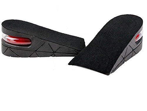 hugestore Unisex Air up altura aumento elevador zapatos plantillas Lift Kit inserciones tacones para hombres y mujeres negro negro yPEQifD