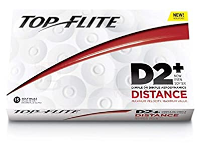Top Flite D2 Distance Golf Balls - 15-Pack