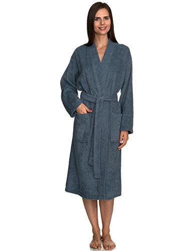 TowelSelections Women's Robe Turkish Cotton Terry Kimono Bathrobe Medium/Large Flint Stone (Collection Cotton Cloth)