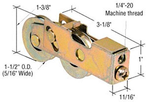 """CRL 1-1/2"""" Tandem Steel Sliding Glass Door Roller With 11/16"""" Wide Housing - D1988"""