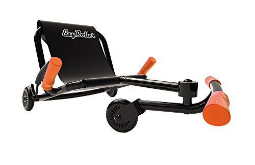 Fire Truck Riding Pedal Car (EzyRoller Classic Ride On - Black with Orange Accessories)