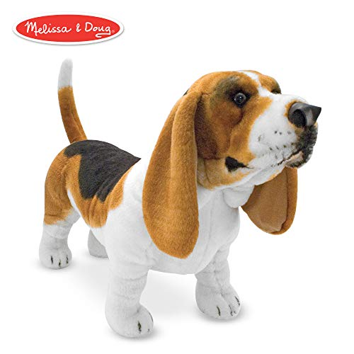 Melissa & Doug Giant Basset Hound  - Lifelike Stuffed Animal Dog from Melissa & Doug