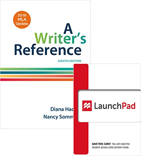 Bundle: Writer's Reference 8e with 2016 MLA Update & LaunchPad for A Writer's Reference 8e (Twelve Month Access)