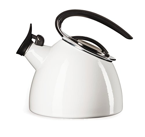 Copco 5197724 Flight Enamle On Steel Tea Kettle 2.4-Quart White