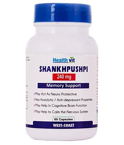Healthvit Shankhpushpi 240 Mg 60 Capsules