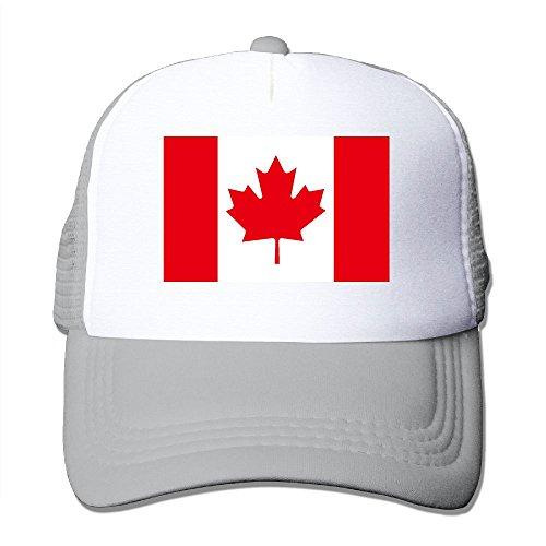 TO-JP Flag Of Canada Mesh Hat Baseball Caps Adjustable Trucker Cap Headwear (Canada Playsets)
