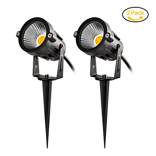 LED Landscape Light, 10W Outdoor Garden Light Warm White 3000K, Waterproof IP65, AC/DC12V Security Lighting for Patio Deck Yard Garden Driveway Pool Area – 2 Pack For Sale