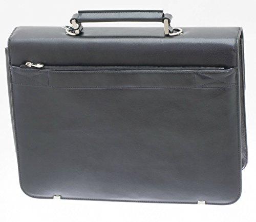 Davidts Aktentasche Echt Leder Laptoptasche Schwarz 462106 Bowatex